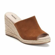 d046ad1de953 Sonoma Goods for Life Women s Jute Espadrille Whiskey Suede Wedge Sandals  9.5