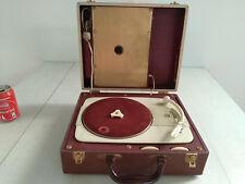 RARE Radio Philips Portable Valves Phonograph case Record player vinyl working