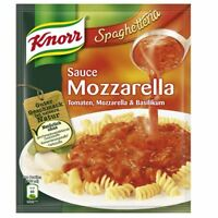 12 x KNORR MOZARELLA SAUCE SOSSE TOMATO CHEESE BASILIKUM FOR NOODLE FROM GERMANY