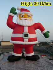 20ft 6M Advertising Inflatables Christmas Decor Inflatable Santa Claus Promotion
