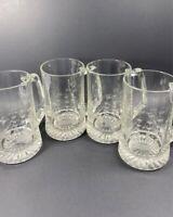 4 Vintage Etched Glass Sailing Ships Sailboat Beer Steins Mugs Tankard Nautical