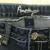 Womens Amythst Denim Jeans Dark Wash Stretch Denim Jeans Size 3