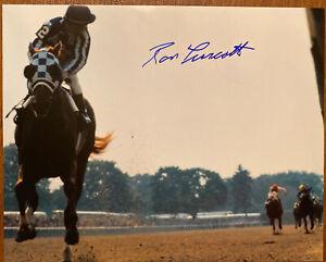 Secretariat photograph signed Ron Turcotte 1973 Belmont Stakes Triple Rare