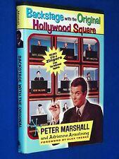 SIGNED! Backstage w the Original Hollywood Squares 1st Ed HCDJ Peter Marshall CD