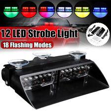 12LED Car Windshield Dashboard Emergency Warning Hazard Flashing Strobe Light
