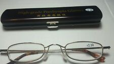 Classic Mini +2.50 Presbyopia Reading Glasses w/Slim Pocket Pen Clip Hard Case