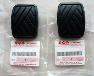 Two Brake Clutch Pedal Pads | Suzuki Swift Samurai Sidekick Geo Metro Tracker OE