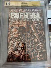 1985 TMNT RAPHAEL #1 CGC 8.0 SS KEVIN EASTMAN sketch CASEY JONES DOUBLE COVER