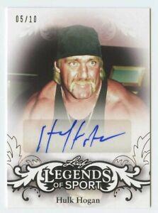 Hulk Hogan 2015 leaf legends of sport authentic signed auto autograph 5/10