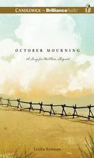 October Mourning A Song for Mattew Shepard by Lesléa Newman Audio Book 2 CDs