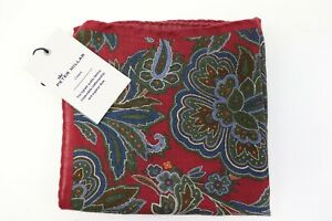 NWT $68 PETER MILLAR Mens Autumn Wool Blend Crown Collection Pocket Square Italy