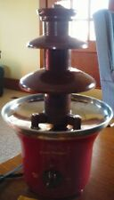 Nostalgia Electrics CFF700 Capacity Cascading 3 tier Chocolate Fondue Fountain