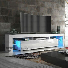 TV Unit Cabinet Stand  Matt body and High Gloss Doors, FREE LED  Large 200cm