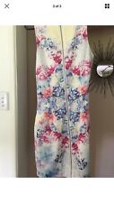 Forever New Floral Girls Womens Dress Size 8 Zipper Back Christmas Party 🎊