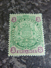 RHODESIA BRITISH SOUTH AFRICAN COMPANY 3/- POSTAGE STAMP SG36 MM 1896-7