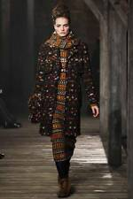 CHANEL 2013 13A Runway Multicolor Plaid Tweed Jewel Buttons Coat Jacket 44 $8235