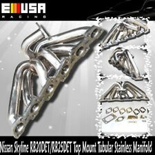 For Skyline RB20DET RB25DET 6 CYL ENGINES T3 Top Mount Stainless Manifold