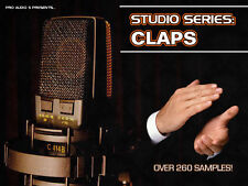 Studio Series CLAPS - .wav Clap Samples Download - OVER 260 CLAPS!!!