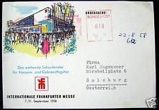Germany~1958 Frankfurt~INTERNATIONALE FRANKFURTER MESSE