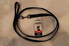 "ASPEN PETMATE ""FASHION"" Medium DOG LEASH - Sturdy Nylon (black) 5/8"" x 4'"