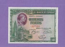 500  PESETAS DE 1928  NUMERO BAJO  EBC+
