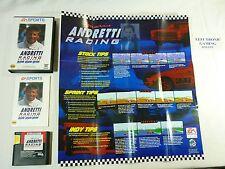 MARIO ANDRETTI RACING - Sega Genesis - COMPLETE Game w/ POSTER - TESTED - !!!!