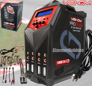 Venom 0686 Pro Quad 100Wx4 AC/DC 7-Amp 4-Port Charger LiPo LiFe Li-Ion w/CABLES!