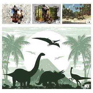 Vlies Fototapete Kinderzimmer 3D Dinosaurier Dino Für Kinder Junge + KLEISTER