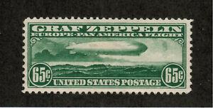 US USA Sc# C13 MH FVF Graf Zeppelin 65ct