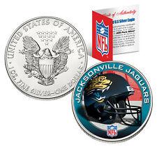 JACKSONVILLE JAGUARS 1 Oz American Silver Eagle $1 Coin Colorized NFL LICENSED