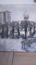Peinture orientaliste signée. Oriental painting signed 1962 orientalisme