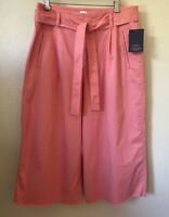 NWT GAP High Waisted Frayed Hem Culottes Pants Size 14 Crop Pleated Women's