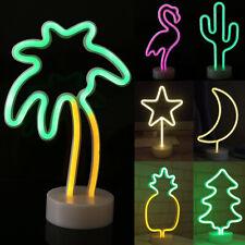 Neon Sign Light LED Night Light Home Desktop Decor Photo Prop Nursery Table Lamp