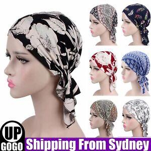 Turban Headwear Chemo Scarf Floral Wrap Muslim Hat Cancer Head Cap Stretch Soft