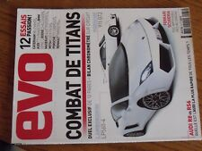 $$$ Revue evo N°33 Lamborghini LP560-4Caterham V8 LevanteAudi TT-SAudi R8