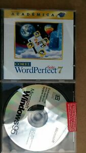 Spanish full-version Windows 95 CD + Spanish WordPerfect 7 CD academic version