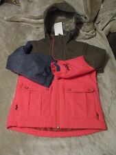 ❤️Protest Skijacke schlamm/braun/oliv-neon pink-jeans 5000 Gr.140 ❤️ Neu m.E.