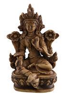 Verde Tara Soprammobile Tibetano IN Resina Bodhisattava 9.5 CM 3141