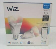 New WiZ Colors WiFi Connected Smart LED A19 - E26 Bulbs Bluetooth -