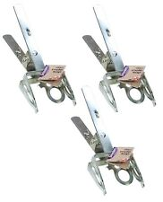 3 x Professional Mole Claw Scissor Trap Pest Control Heavy Duty Metal