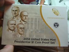 (10) 2014 US Mint Presidential $1 Proof Coins (10 Sets)