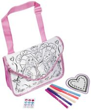 Princess Color Your Own ToteBag Kids Craft Set Markers,12 GEM stickers,1 Mirror