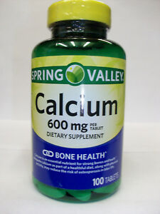 Calcium 600 mg 100 Tablets Dietary Supplement