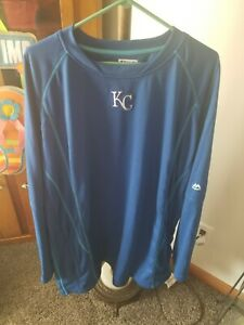 Mens 2xl TALL Majestic KC Royals Long sleeved sweatshirt