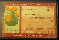 1933 Rose Bowl Ticket Pittsburgh Vs Southern California USC seat 12