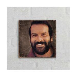 Bud Spencer Portrait 2 - MDF-Schild (20x20cm) - Bud Spencer®