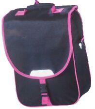 Fahrrad Gepäck Taschen 2er SET PINK/Schwarz ca. 34x40x16 cm mit Regenhülle