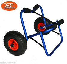 2×New Color Collapsible Alloy Kayak Trolley Canoe Cart Boat Carrier-JET02005BLU