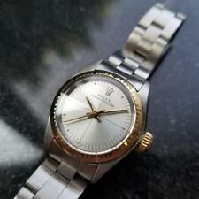 ROLEX 18K Gold & SS Ladies Oyster Perpetual 6724 Automatic c.1976 Swiss MS159