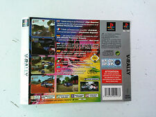 Jaquette Arriere/Back Cover V-Rally Sony Playstation 1 PS1